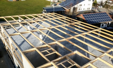 Neubau einer landwirtschaftlichen Lagerhalle in Graben
