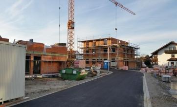 Neubau eines Doppelhauses mit Garage in Kaufbeuren